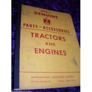 com International Tractors & Engines OEM Parts Manual International
