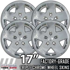 2007 2010 Jeep Wranlger 17 Chrome Wheel Skin Covers Automotive