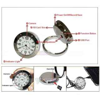 New Mini Table Clock Watch Hidden Camera Motion Detection DVR Record