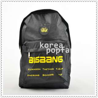 Bigbang Big Bang KPOP BLACK SCHOOLBAG BACKPACK BAG NEW