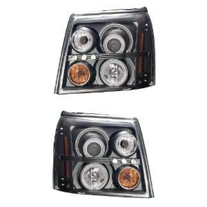 CADILLAC ESCALADE ESV 03 04 05 06 PROJECTOR HEADLIGHT HALO BLACK CLEAR