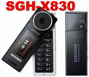 Samsung SGH X830 Music Mobile Phone Swivel Unlock Black