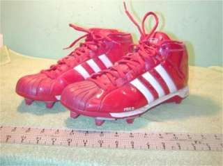 Adidas Pro D Football shoes Firey Red size 11 1/2? Cleats