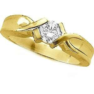 14K Yellow Gold Diamond Solitaire Engagement Ring   0.50 Ct. Jewelry