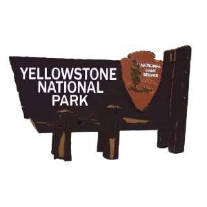 Yellowstone National Park Sign Die Cut Arts, Crafts & Sewing