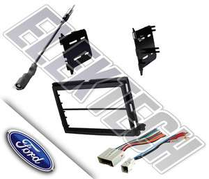 FORD F 150 STEREO DASH MOUNTING KIT COMBO PACKAGE HARNESS AMP RCA