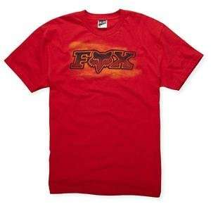 Fox Racing Podium T Shirt   X Large/Red Automotive