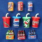 10 VARIETY OF SOFT DRINK FRIDGE MAGNETS   S15A