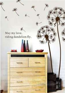 Removable Dandelion Flower Tree in the Wind Wall Sticker Art Mural