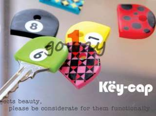 Colourful PVC Key Shirt Cap Cover Holder Cute Dot Grid Bettle Style