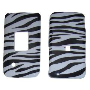 Huawei M328 Black & Silver Zebra Design Crystal Case