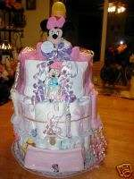 MINNIE MOUSE DIAPER CAKE BABY SHOWER GIFT