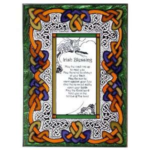 IRISH BLESSING Window 10 x 14 May the Road Celtic
