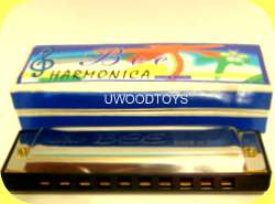 CHILDRENS HARMONICA MUSICAL TOY by U WOOD WOODEN TOYS