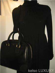 1600 NEW CELINE Large Black Leather Satchel Boston Tote Bag Handbag