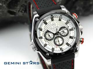 Trendy Accurate Date&Day Automatic Mechanical Rubber Outdoor Sport Men