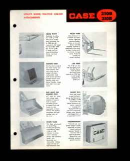 Case 210B 310B Tractor Loader Attachment Brochure 1959