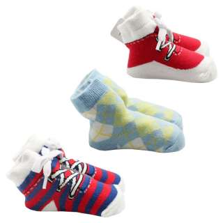 pcs New Kids Boys Socks Newborn Infant Toddler Baby Girls Booties
