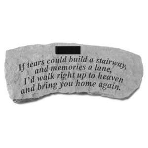 If tears could build a stairway.Personalized Small Memorial Bench