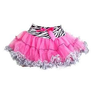 Pink Zebra Tutu with Ruffles and Bow Sk679xs Size X small 2t/3t [Toy