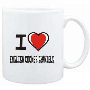 Mug White I love English Cocker Spaniels  Dogs