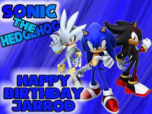 SONIC the HEDGEHOG Edible CAKE Topper Icing Image NEW