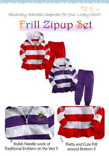 NEW Newborn & Baby Girls Outwear Jacket Pants Set Frill Zipup Set