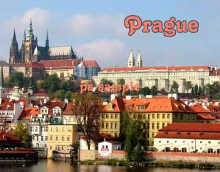 Czech Republic   PRAGUE   Travel Souvenir Fridge Magnet