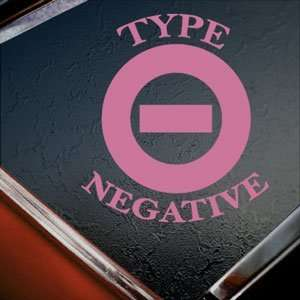 Type O Negative Rock Band Pink Decal Truck Window Pink