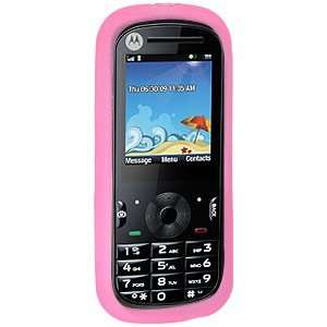 New High Quality Amzer Silicone Skin Jelly Case Baby Pink For Motorola