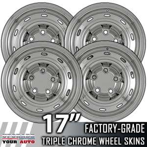 2004 2011 Dodge Ram 1500 17 Chrome Wheel Skin Covers
