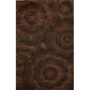 NuLoom Bordeaux 5 Foot x 8 Foot Wool Area Rug, Brown