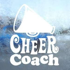 Cheer Coach White Decal Car Laptop Window Vinyl White