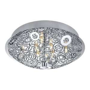 Chrome Cromer 8 Light Semi Flush Ceiling Fixture from the Cromer