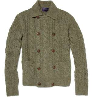 Purple Label Double Breasted Cable Knit Cashmere Cardigan  MR PORTER