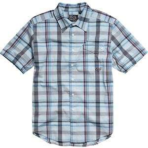 Fox Racing Gamma Woven Shirt   2X Large/Blue Automotive