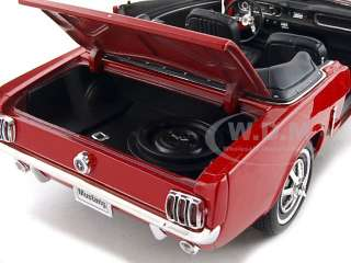 1964 1/2 FORD MUSTANG CONVERTIBLE RED 1/18 DIECAST MODEL CAR BY WELLY
