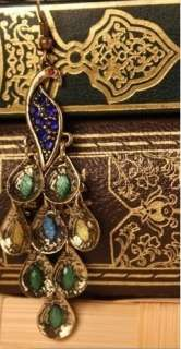 H4723 New Fashion Jewelry Womens Retro Blue The Peacock Earrings