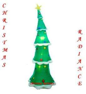 NEW 9ft Gemmy Airblown Inflatable Skinny Christmas Tree