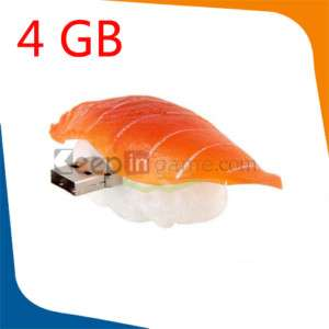 4GB Fashion USB Flash Memory Drive Stick Salmon Sushi
