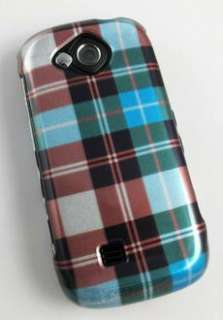 PLAID CHECK HARD SHELL CASE COVER SAMSUNG REALITY U820 PHONE ACCESSORY