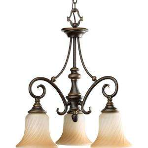 Progress Lighting Kensington Collection Forged Bronze 3 light