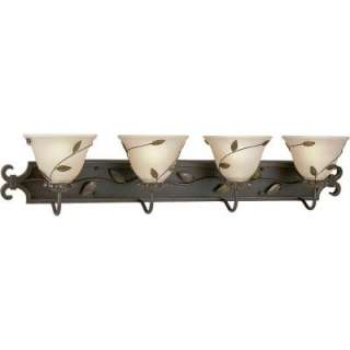 Progress Lighting Eden Collection Forged Bronze 4 light Vanity Fixture