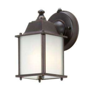 Hampton Bay Oil Rubbed Bronze 1 Light Outdoor Dusk to Dawn Lantern
