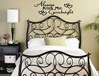 Always Kiss Me Goodnight Wall Quote Decal Vinyl Sticker