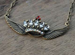 Gk4255 New Fashion Jewelry Womens Retro Crown Eagle Wings Chain