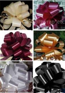 30 PULL BOWS CHRISTMAS IVORY BURGUNDY GOLD WHITE BLACK ROSE GIFT