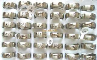 Wholesale 36pcs Stainless Steel Modern Mens Rings