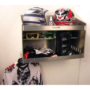 Helmet Storage Cabinet Holder Shop Garage Cargo Car Trailer Organizer