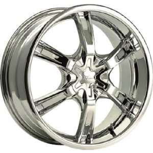 Cruiser Alloy Magneto 18x7.5 Chrome Wheel / Rim 5x100 & 5x4.5 with a